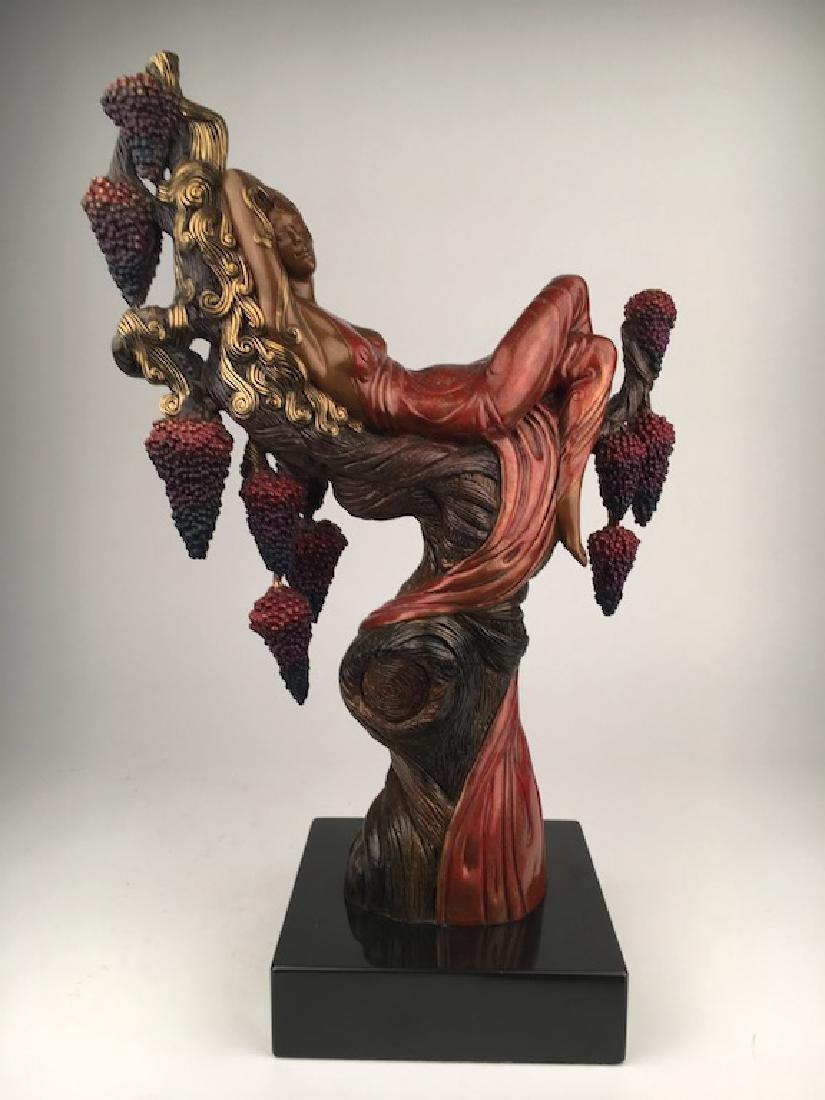 "Erte (Romain De Tiftoff) bronze figure titled ""Heat""."