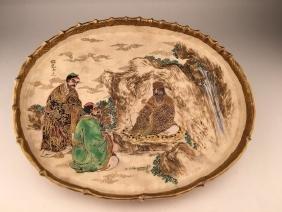 19 th Century Japanese porcelain Satsuma platter with