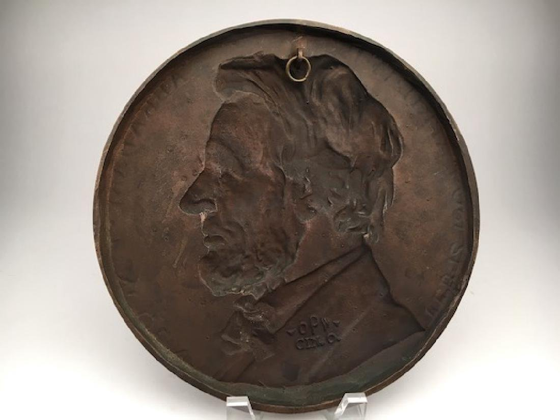 Abraham Lincoln wall plaque. - 3
