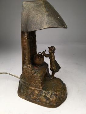 C. Kauba bronze table lamp.