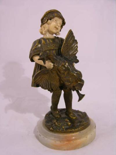 """1778: """"DEMETRE CHIPARUS ( 1886-1947)  BRONZE AND IVORY"""