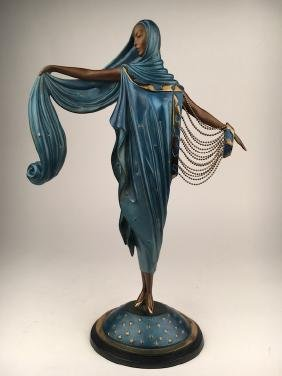 "Erte ""Moonlight"" sculpture. Marked with the Erte"