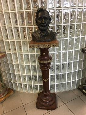 Abraham Lincoln bronze  bust signed in the bronze.
