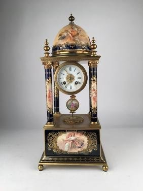 Monumental Royal Vienna clock.