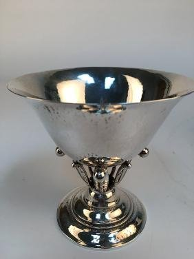 Georg Jensen Danish 924 sterling silver compote stamped