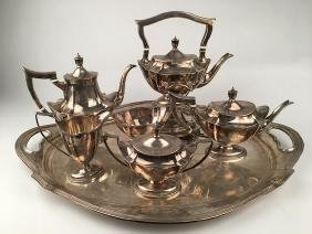 A very good Gorham sterling silver tea service with