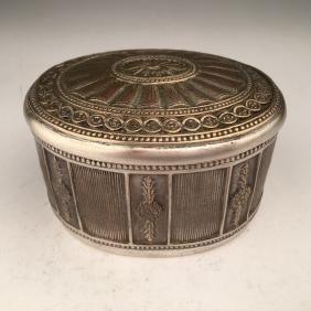 "Tiffany Studio ""Adams"" pattern inkwell silver over"