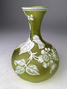 Webb :English cameo glass vase.