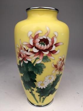 Japanese cloisonne vase.
