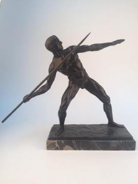 A Javalin thrower. signed Eberth Pfleiderer.
