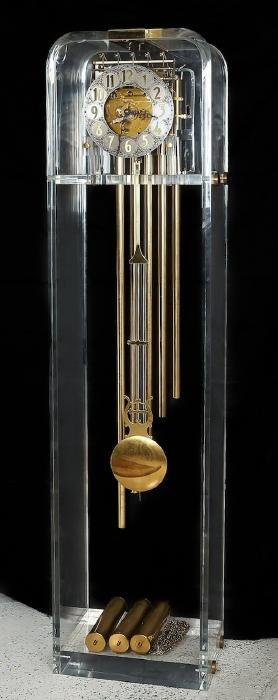 "Lucite clock.The ""TIME MACHINE"""