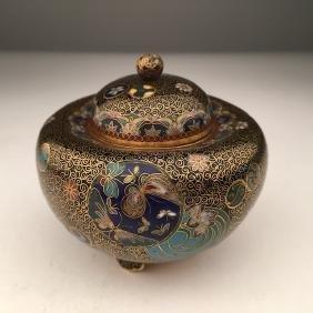 Japanese cloisoinne jar.