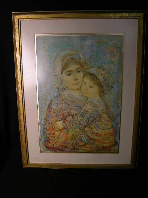 """2027:  """"VIVIAN AND CHILD""""  LIMITED EDITION PRINT."""