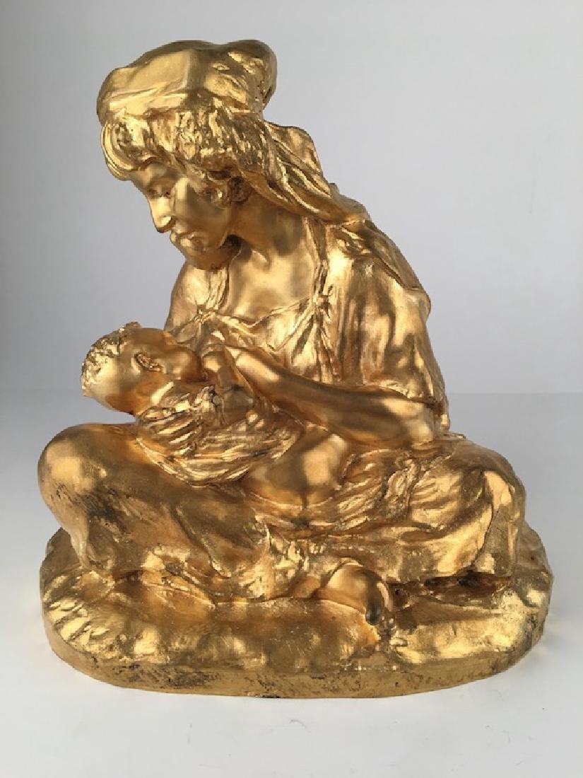 Rachel-Lucy Hautot gold patina bronze figure