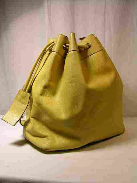 FERRAGAMO LIME YELLOW BUCKET BAG. THIS IS NOT A