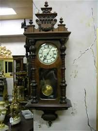 2778: R. S. MULLER GERMAN VIENNA  REGULATOR WALL CLOCK