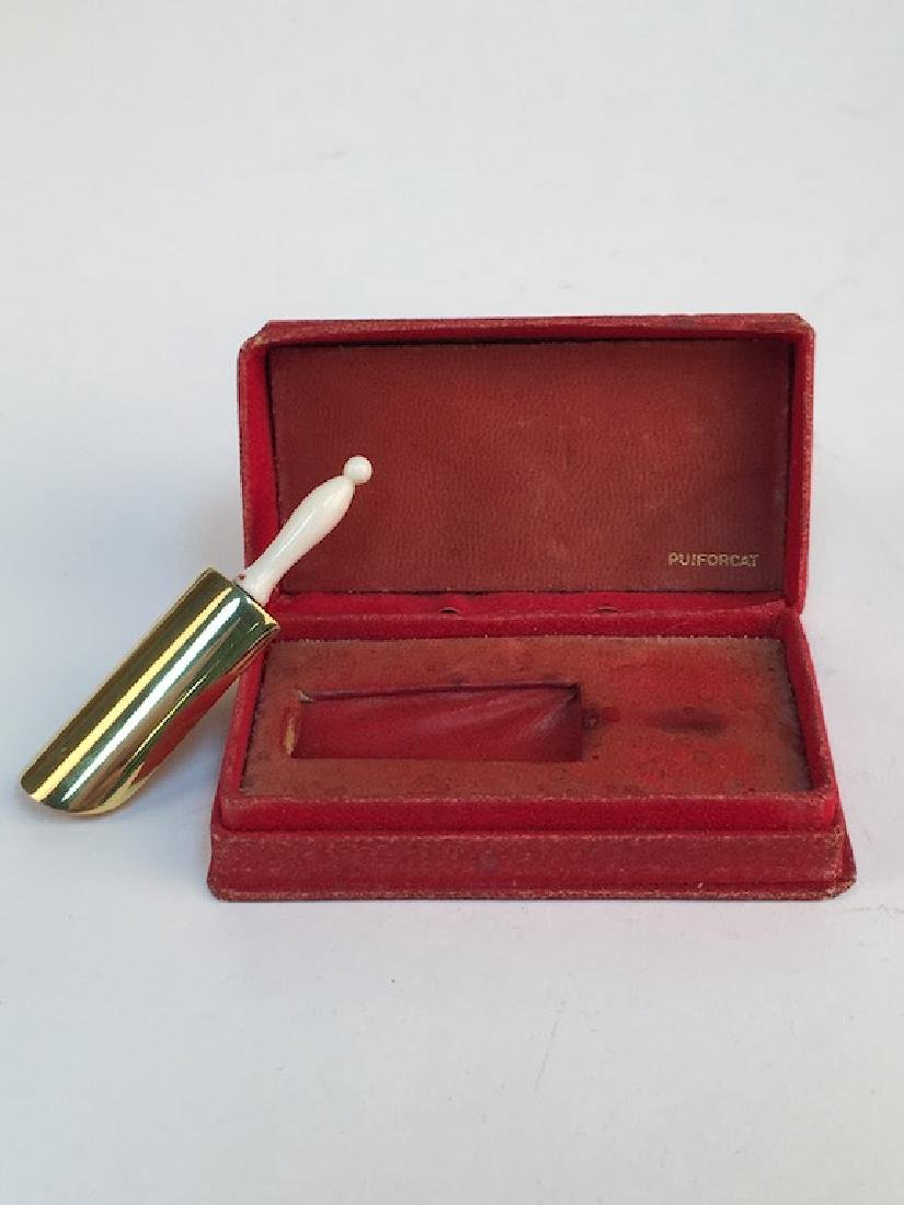 Puiforcat gold gilt on sterling siver perfume scoop. - 2