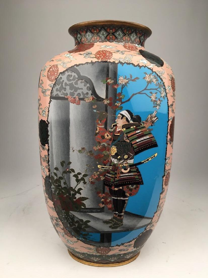 Circa 1880 Japanese cloisoine vase.