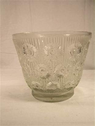"""R. LALIQUE """" EDELWEISS"""" CLEAR VASE. REFERENCE MAR"""