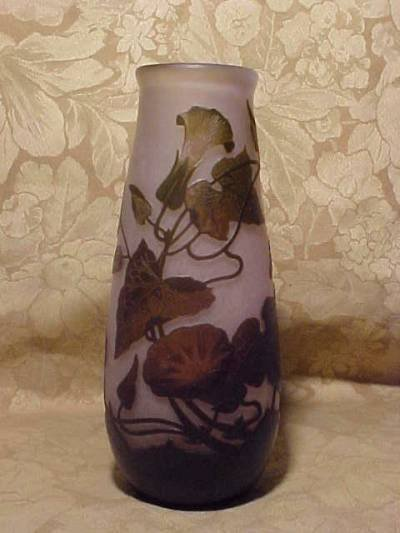 """2908: """"ARSOLF"""" CAMEO VASE. LIGHT AND BROWN COLORS CUT T"""