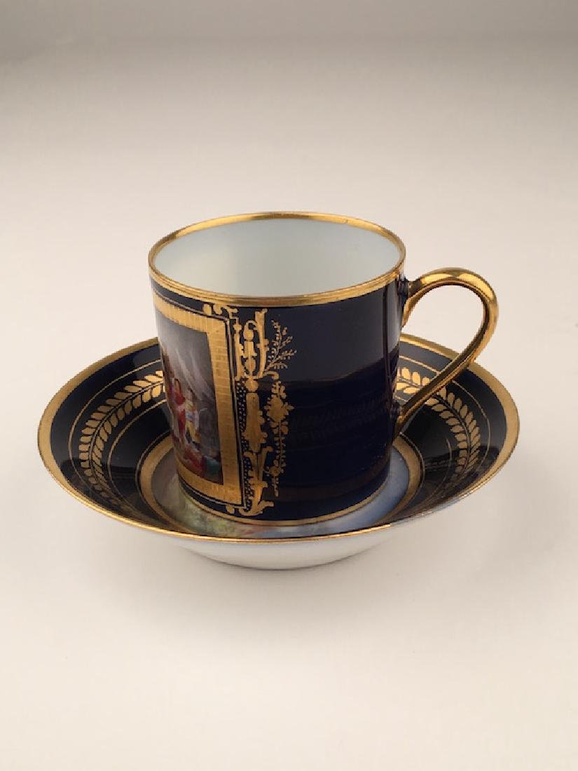 19 th Century Sevres portrait cup and saucer. - 3