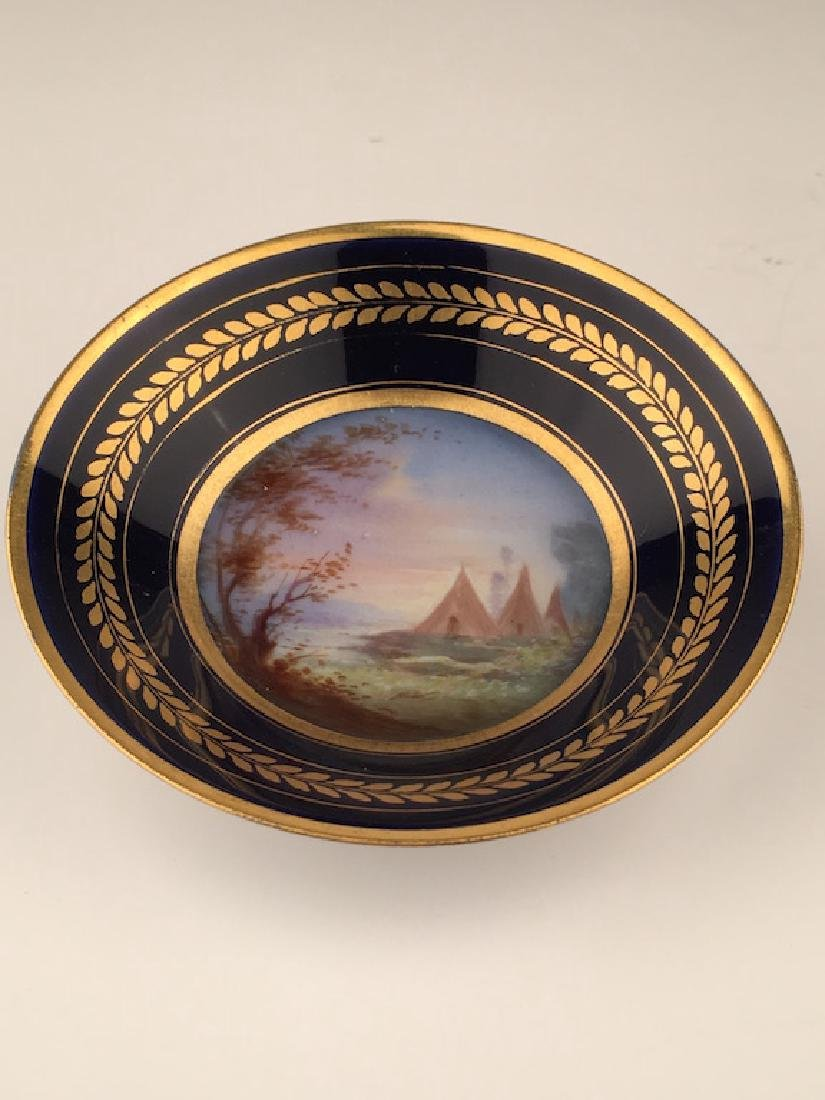 19 th Century Sevres portrait cup and saucer. - 4