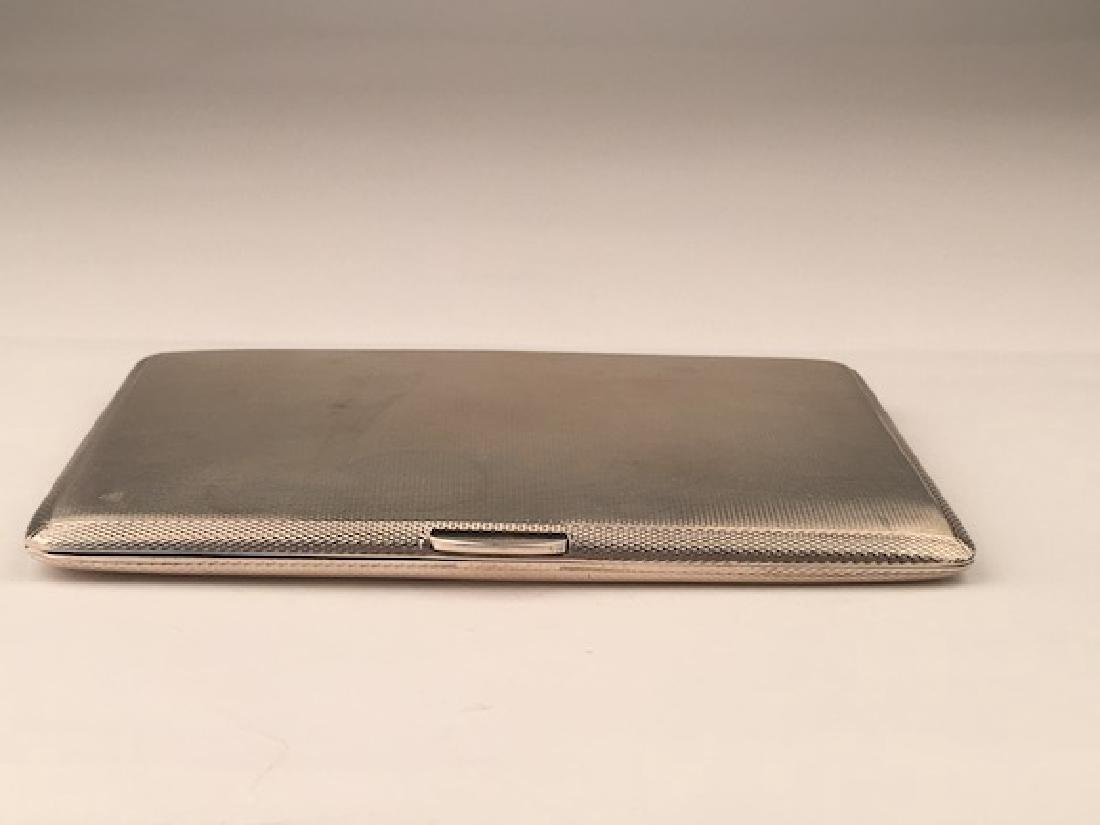 English hallamarked silver cigarette case.