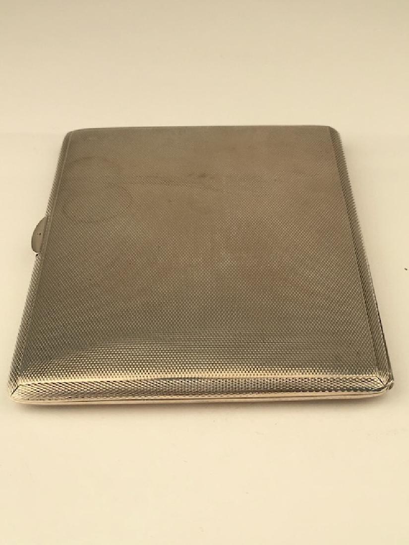 English hallamarked silver cigarette case. - 2