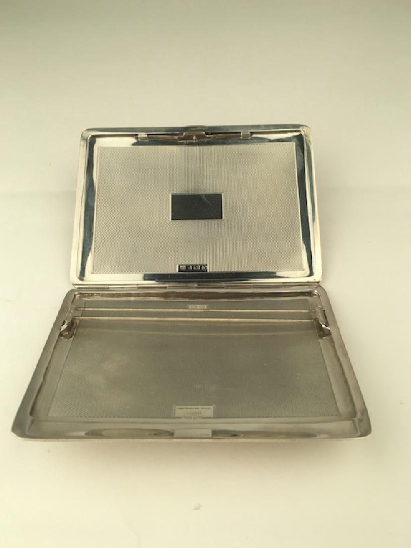 English hallamarked silver cigarette case. - 3