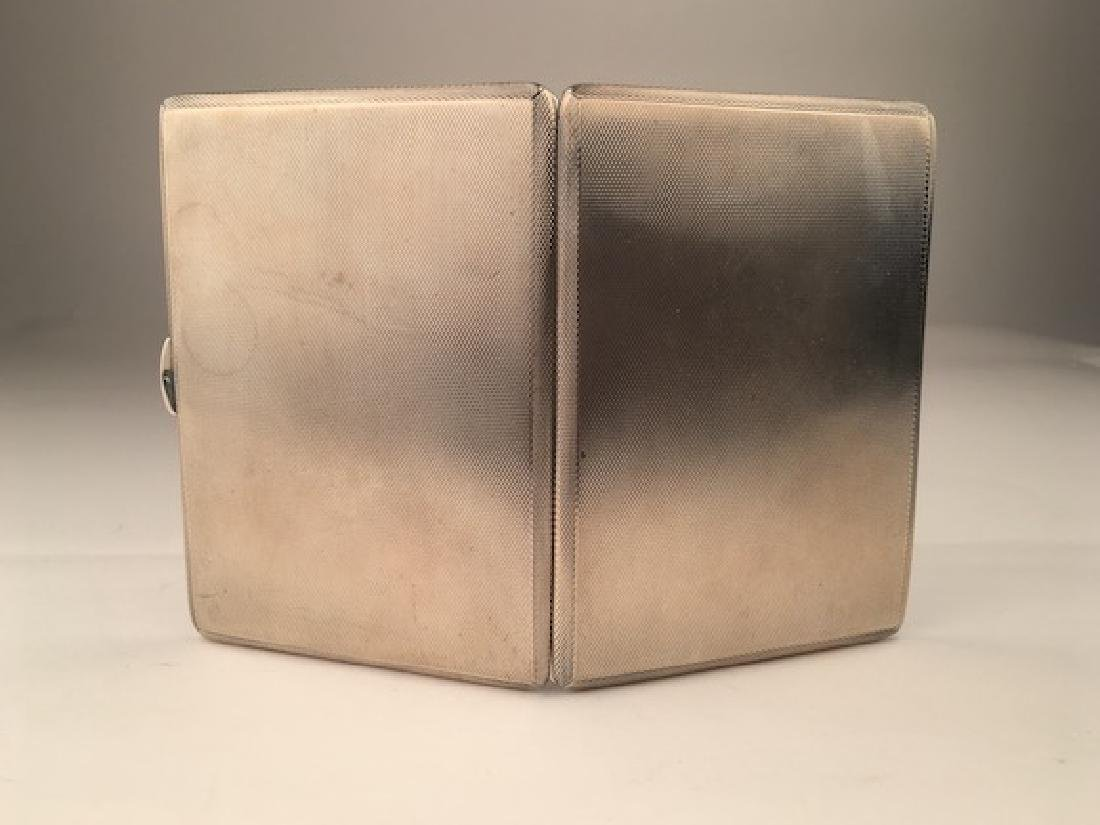 English hallamarked silver cigarette case. - 5