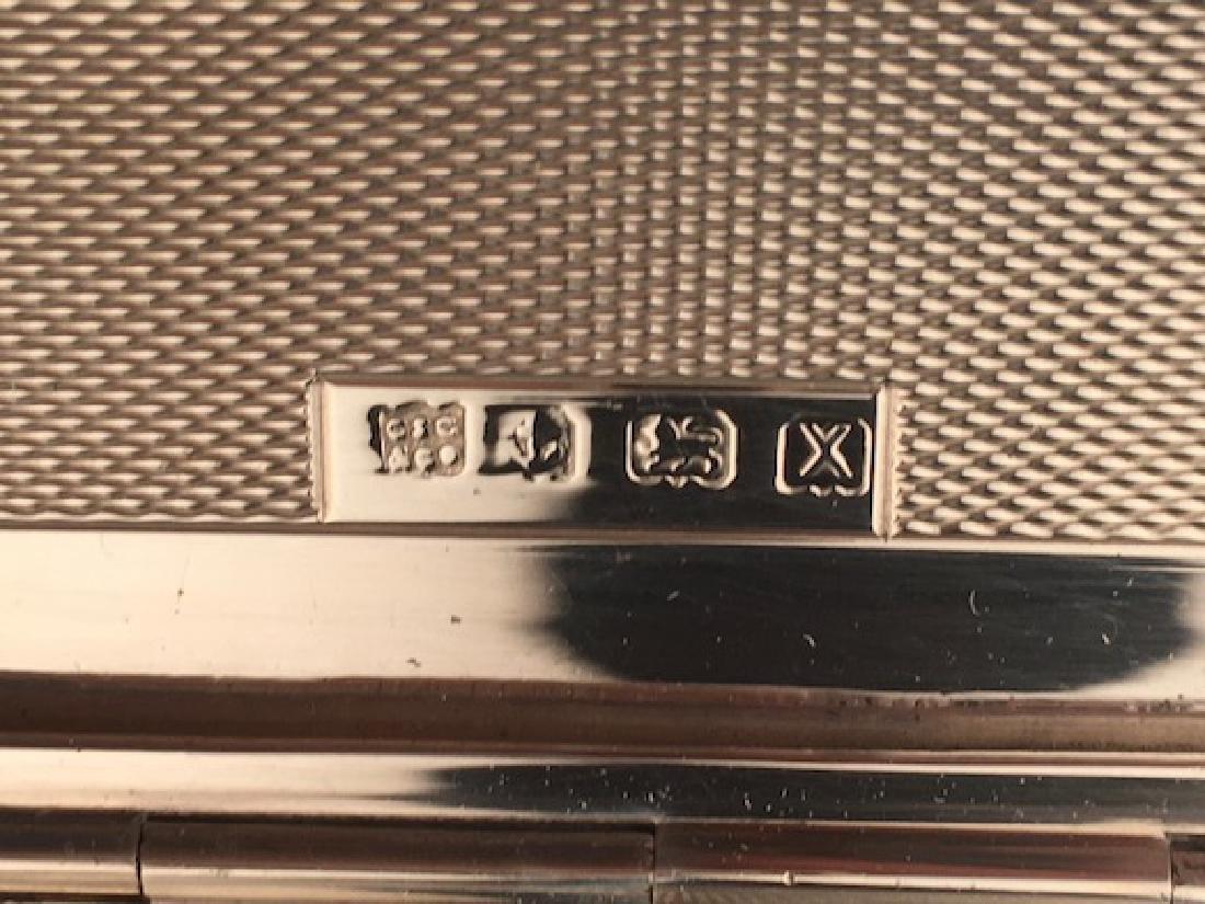 English hallamarked silver cigarette case. - 6