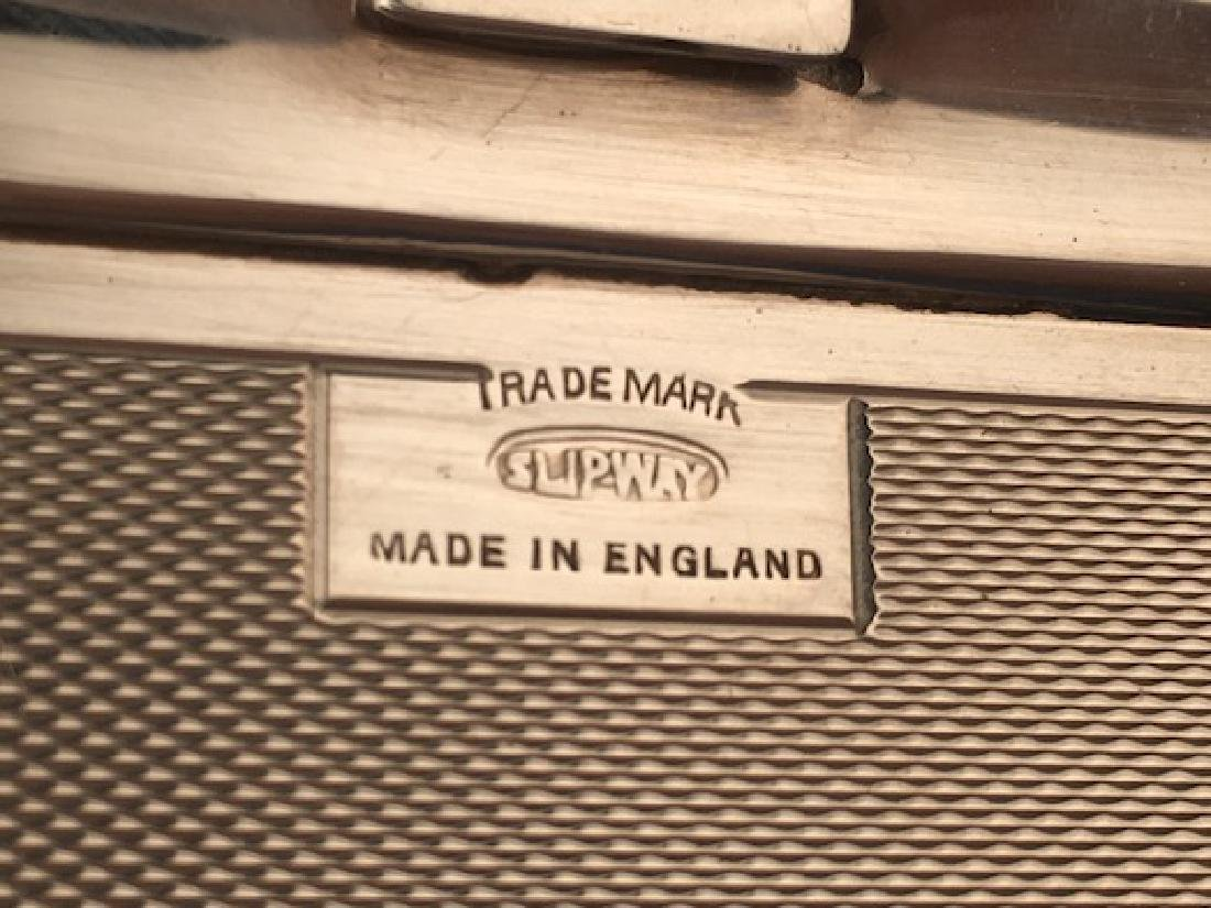 English hallamarked silver cigarette case. - 8