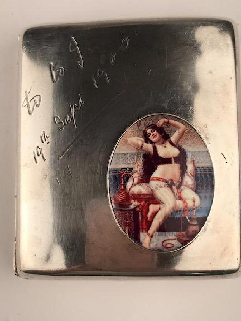 Hallmarked sterling sterling silver cigarette case with