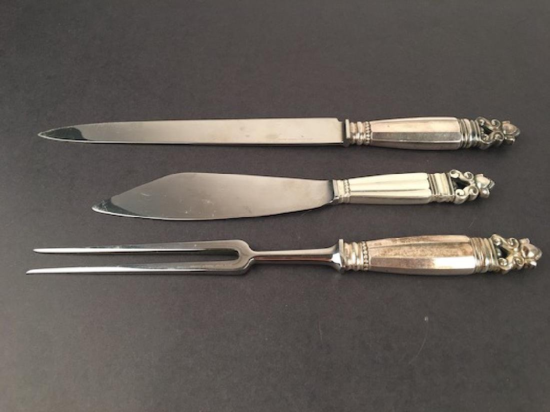 Georg Jensen (3) Carving Set.