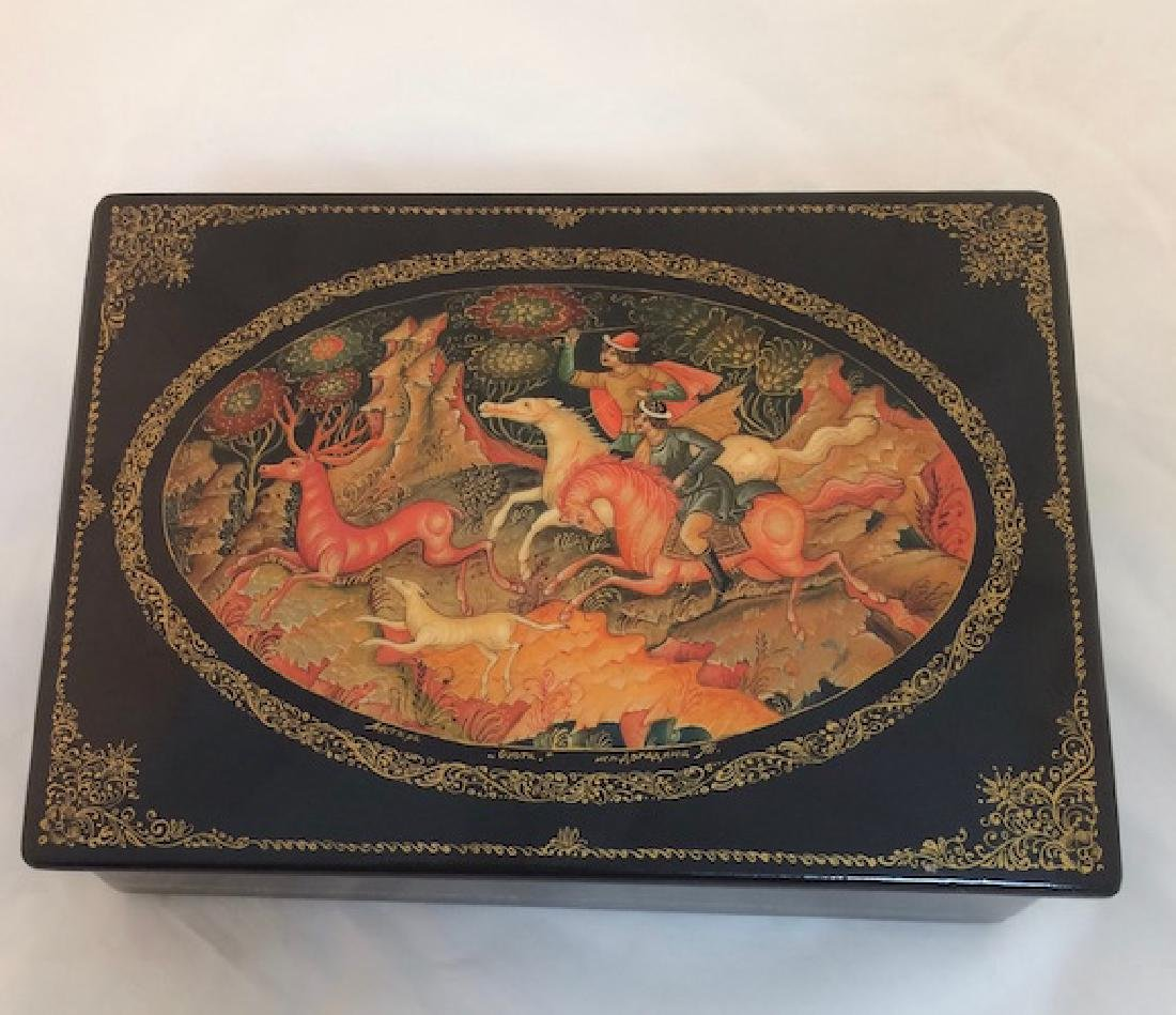 Russian paper mache box..