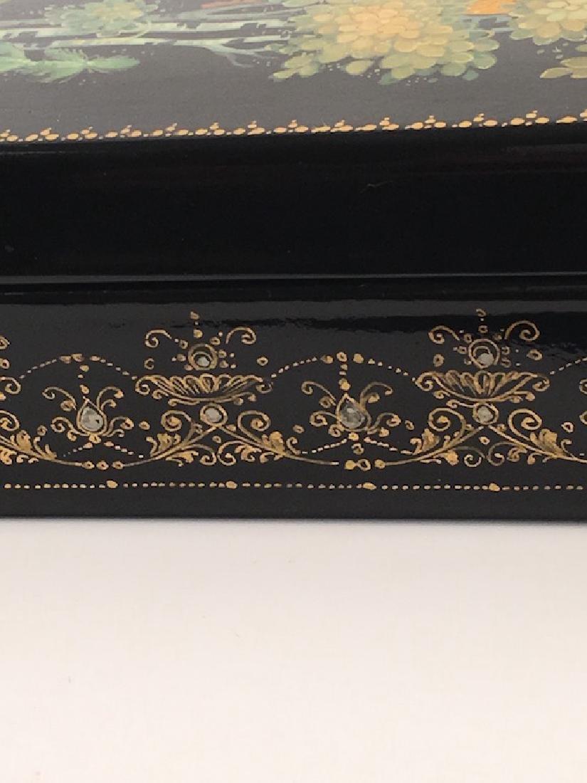 Russian paper mache box. - 2