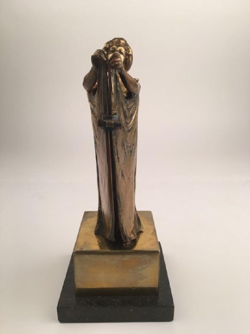 "Erotic bronze gold gilt bronze figure signed  ""Carl"