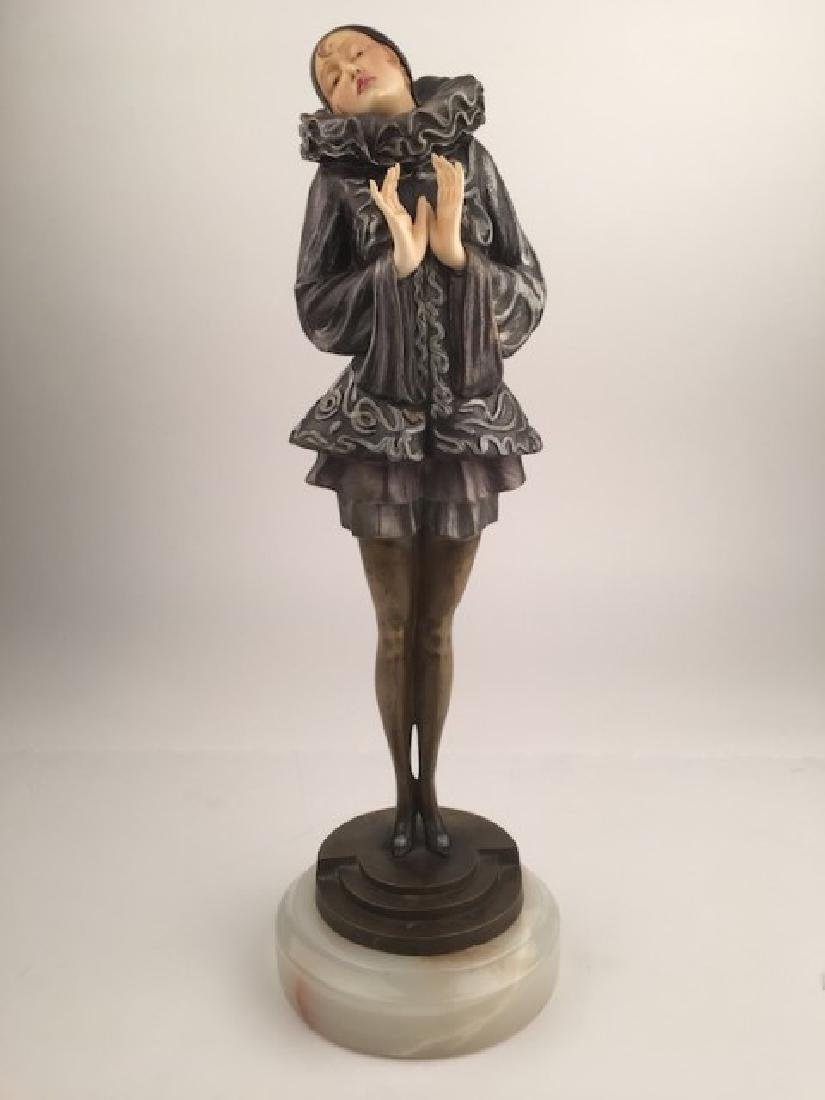 Paul Philippe French, art deco bronze sculpture titled