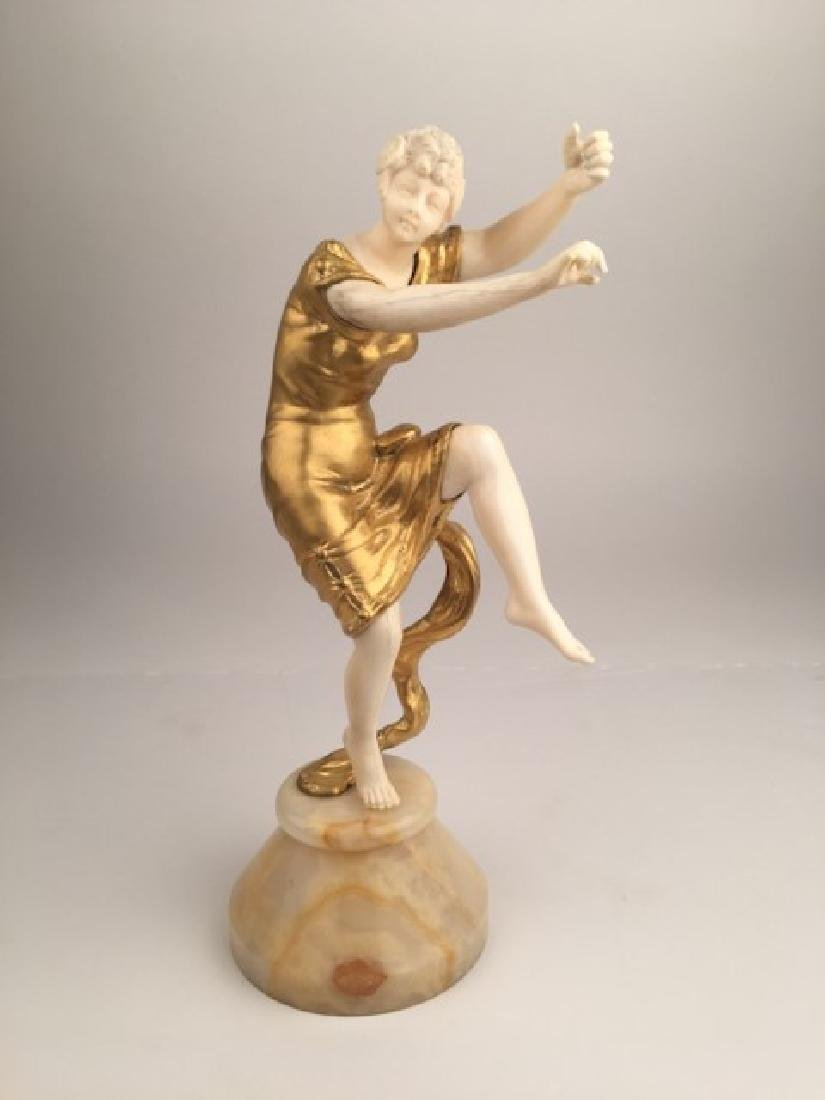 Georges Omerth, (French, active 1895-1925). A gold gilt