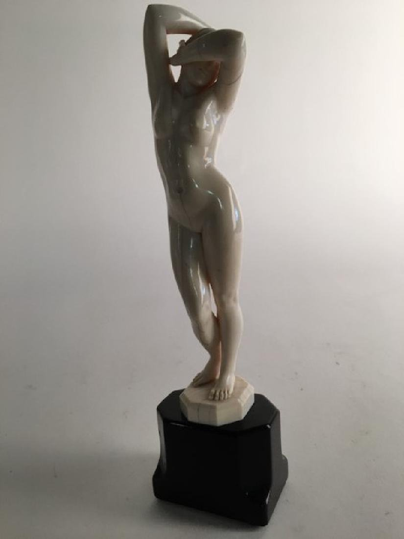 Ferdinand Preiss figurine of nude  woman  with her