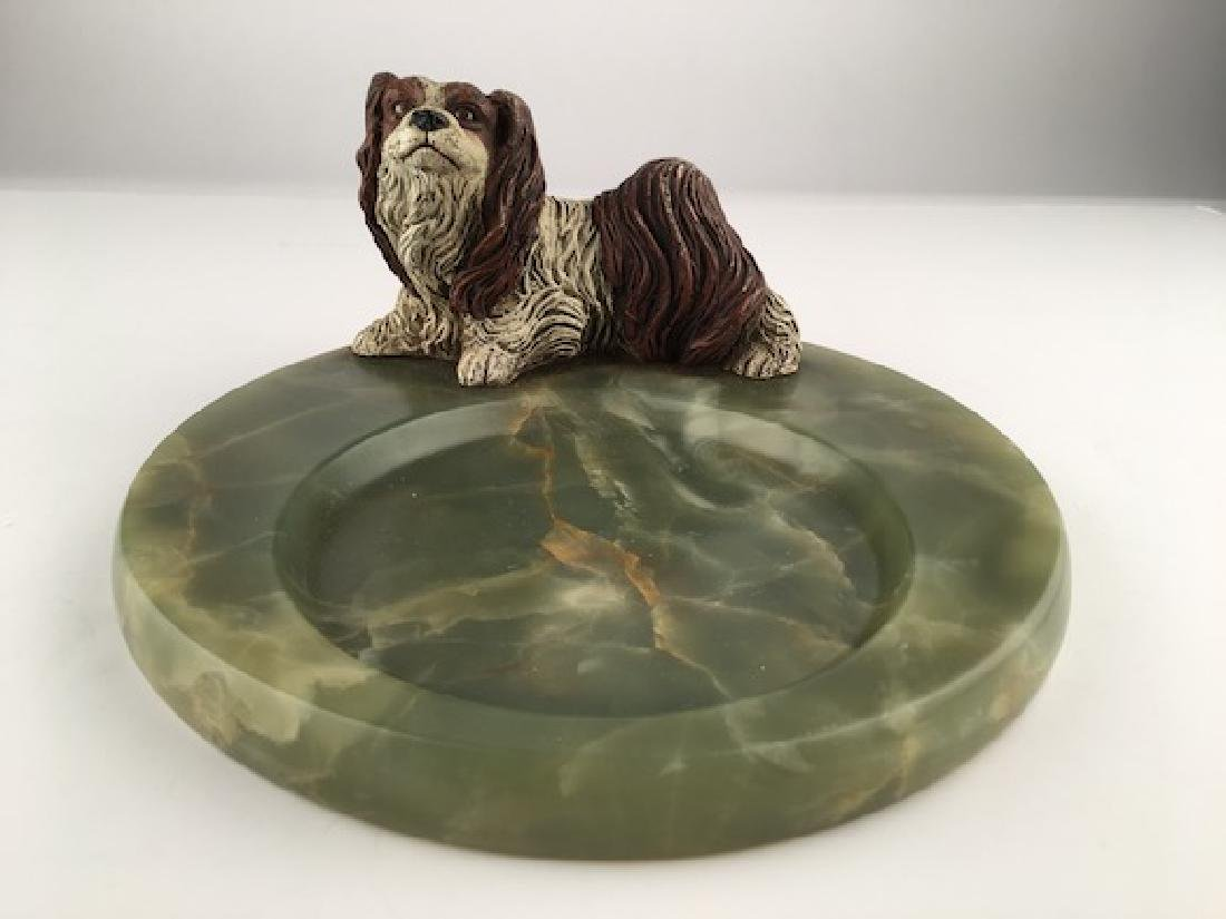 Circa 1920 Vienna bronze figure of a standing dog
