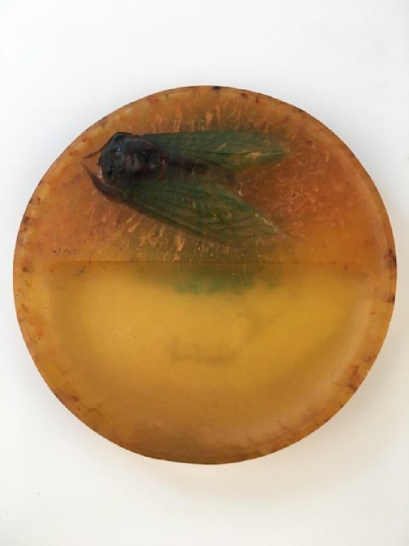 A. Walter Berge pate de Verre ring tray.