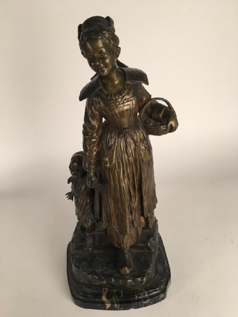 Dominique Alonzo bronze figure of a mother