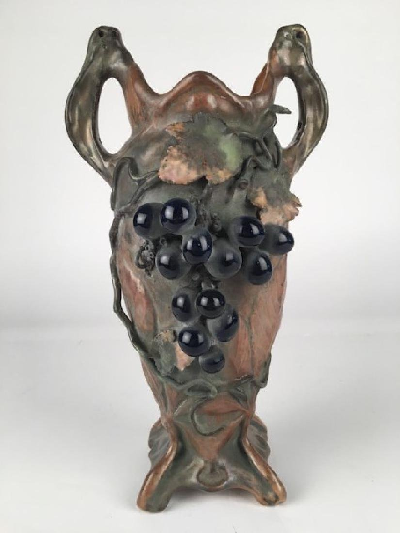 Attributed to Clement Massier, French. Two handle vase