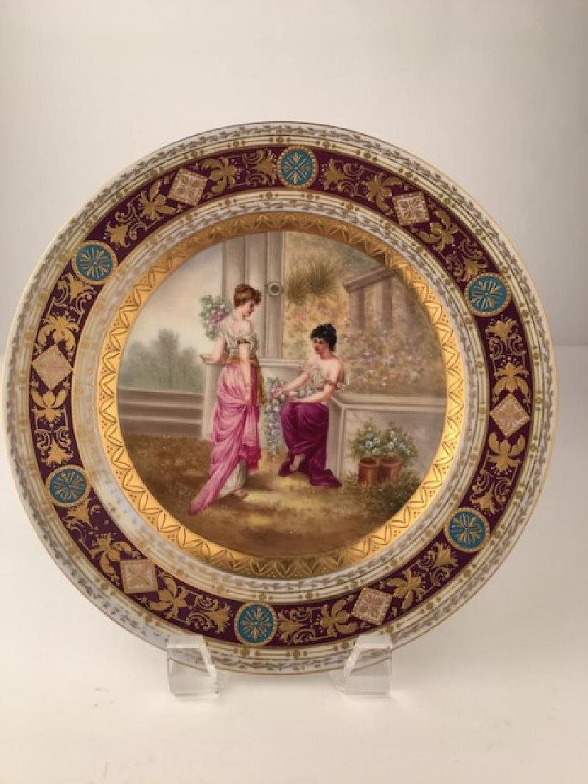 Royal Vienna cabinet plate antique hand painted with