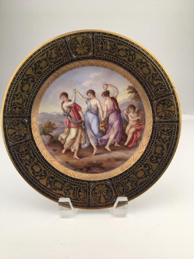 Royal Vienna cabinet plate with a gold enamel boarder