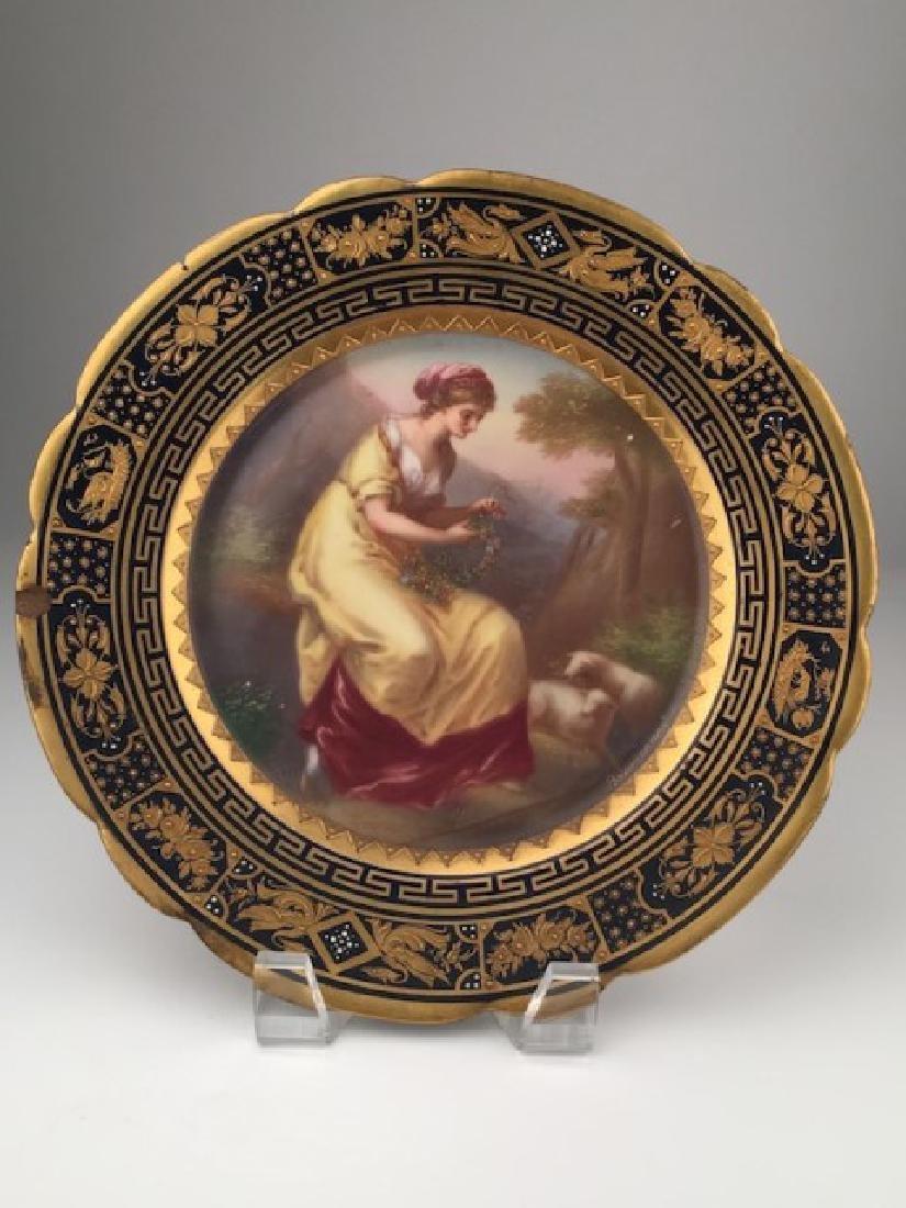 Royal Vienna painted porcelain dish.