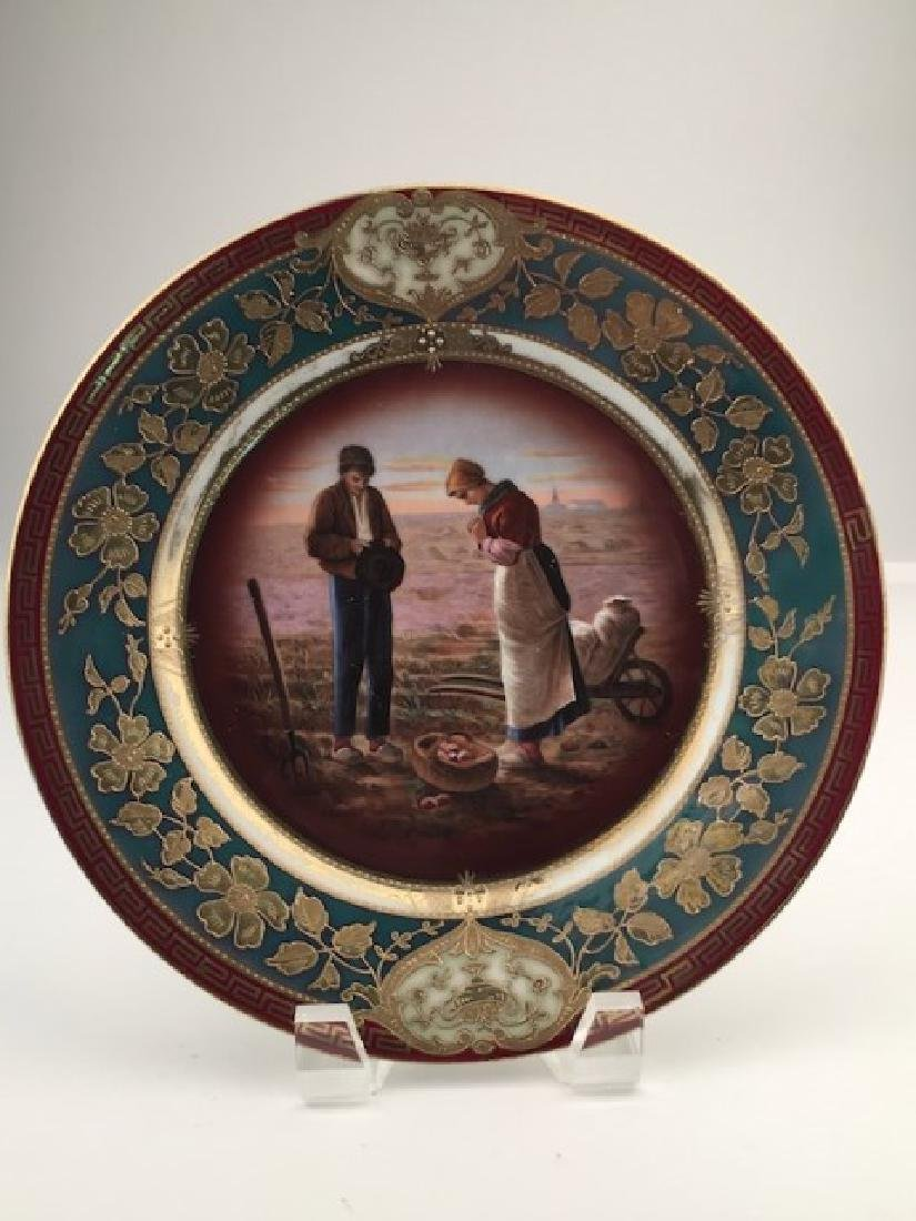Royal Vienna cabinet plate of a scene of a man and