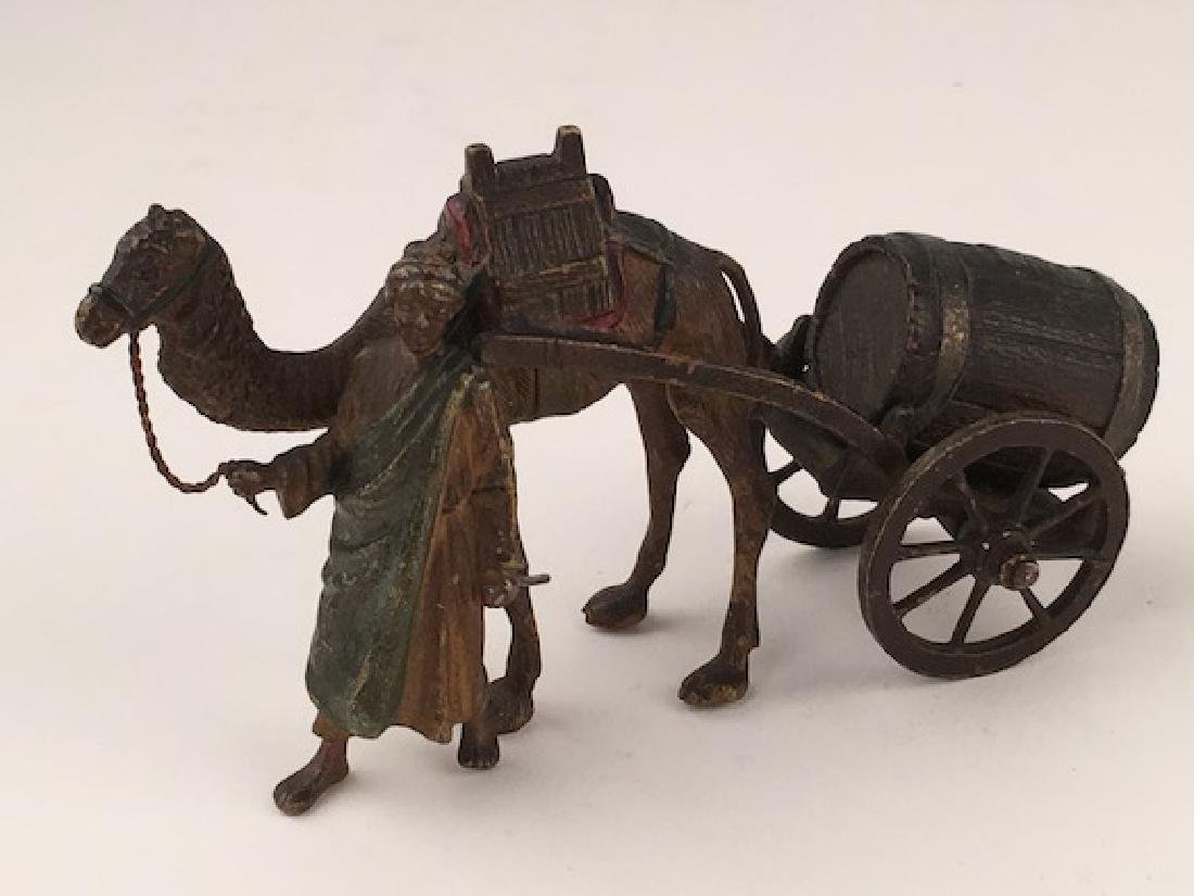 Orientalist cold painted Vienna bronze figure of a