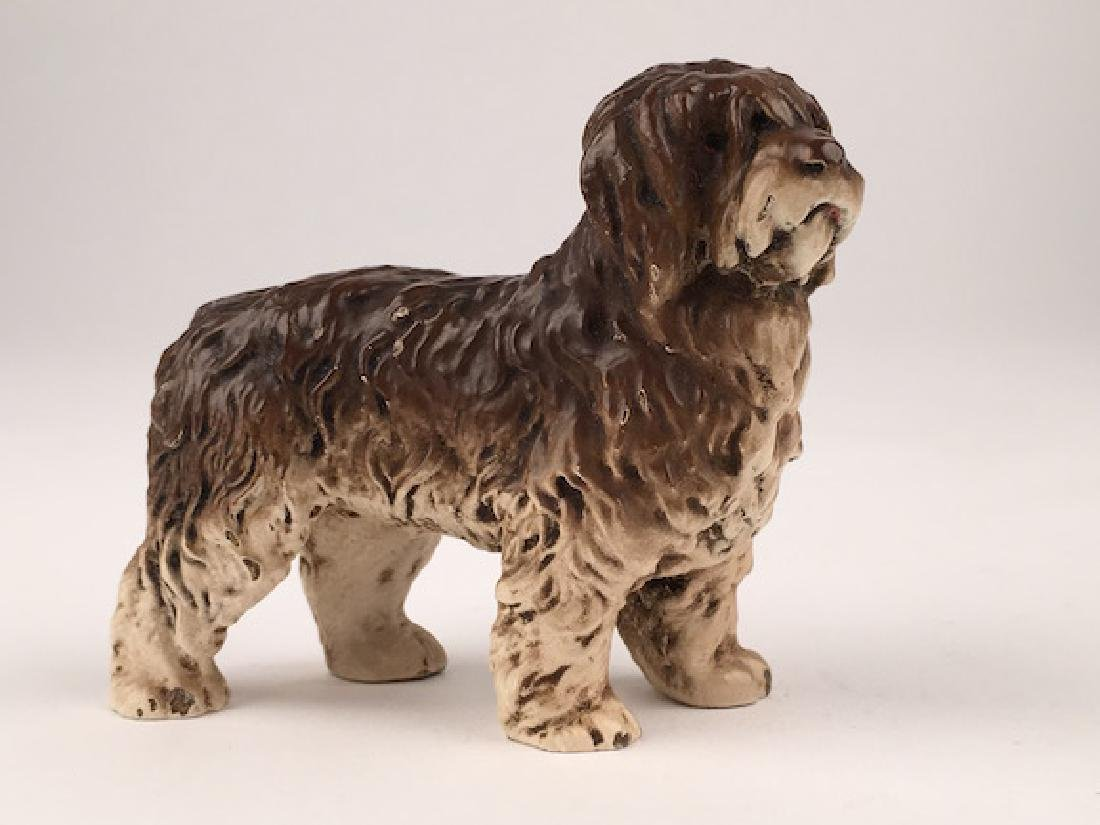 Antique Vienna cold painted bronze figure of a dog.